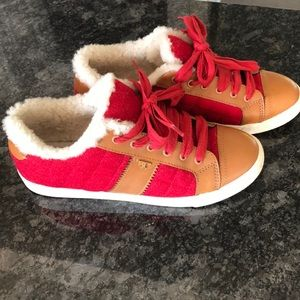 Tory Burch shearling fur lined sneakers